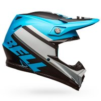 Шлем Moto-9 Mips PROPHECY MATTE WHITE-BLACK-BLUE