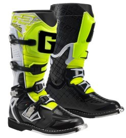Мотоботы Gaerne G-React Goodyear White-Black-Yellow кроссовые  - Мотоботы Gaerne G-React Goodyear White-Black-Yellow кроссовые