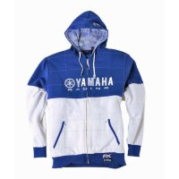 Толстовка Factory Effex Yamaha Quilt-Lined Hoodie Zip Up- Blue-White