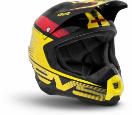 Шлем EVS T5 Vapor Black - Yellow - Red - Шлем EVS T5 Vapor Black - Yellow - Red