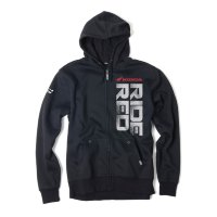 Толстовка на молнии Factory Effex Honda Ride Red Zip-Up Hoodie- Black