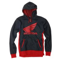 Толстовка на молнии Factory Effex Honda Limit Zip-Up Hoodie- Black-Red